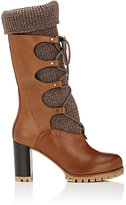Chloé Women's Leather Lace-Up Boots-DARK BROWN