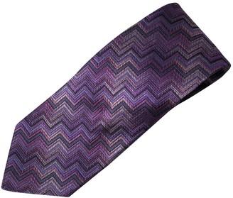 Missoni Purple Silk Ties