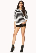 Forever 21 Overboard Striped Raglan Top