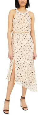 INC International Concepts Inc Burnout Animal-Print Asymmetrical Midi Dress, Created for Macy's