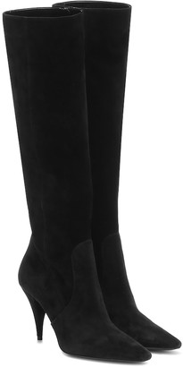 Saint Laurent Kiki 85 suede knee-high boots