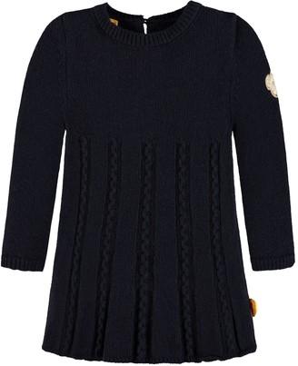 Steiff Girl's Kleid 1/1 Arm Strick Dress