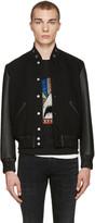 Saint Laurent Black Teddy America Bomber Jacket
