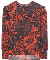 Isabel Marant Printed Silk-crêpe Top