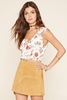 Forever 21 FOREVER 21+ Floral Flounce Crop Top
