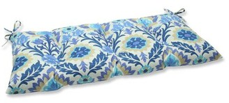 Alcott Hill Rockhill Indoor/Outdoor Loveseat Cushion Fabric: Azure
