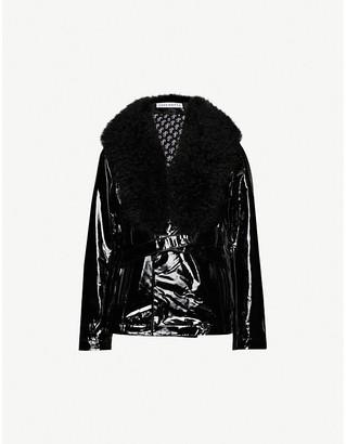 Saks Potts Ritual faux-fur trim leather jacket
