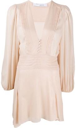IRO Vionina metallic-dotted mini dress