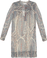 Etoile Isabel Marant Seen long-sleeved printed silk dress