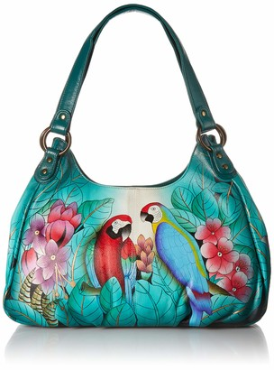 Anuschka Anna by GenuineLeatherRuched Hobo Bag Hand-Painted Original Artwork