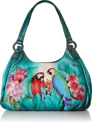 Anuschka Anna by GenuineLeatherRuched Hobo Bag Hand-Painted Original Artwork
