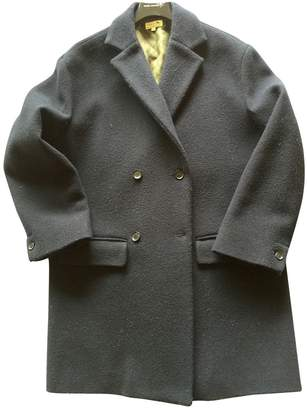 soeur Navy Wool Coats