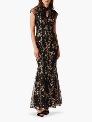 Phase Eight Collection 8 Sia Sequin Maxi Dress, Black/Gold