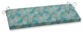 Bay Isle Home Emeline Batik Indoor/Outdoor Bench Cushion Fabric: Lagoon