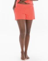 Soma Intimates Full Tap Pajama Shorts Mot Dot Grenadine