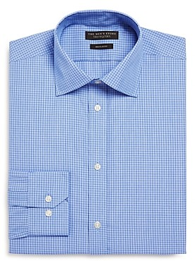 The Men's Store at Bloomingdale's Windowpane Regular Fit Dress Shirt - 100% Exclusive