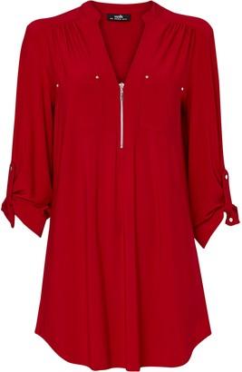 Wallis **TALL Red Zip Utility Shirt