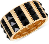 INC International Concepts M. Haskell for INC Gold-Tone Faceted Jet Stone Rectangle Stretch Bracelet, Only at Macy's