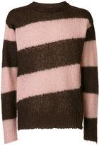 Marni diagonal striped sweater