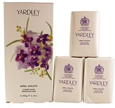 Yardley London of London April Violets by Of London For Women, Perfumed Soap 3 X 3.5-Ounce/100 G
