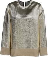 Metallic Gold Blouse - ShopStyle