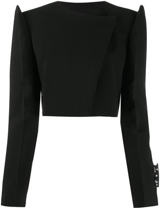 Off-White Exagerrated-Shoulders Cropped Jacket