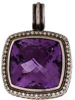 David Yurman Amethyst & Diamond Enhancer Pendant