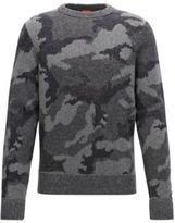 HUGO BOSS Armieto Camouflage Wool Sweater MBlue