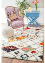 nuLoom Sot and Plush Moroccan Color Burst Lattice Shag Multi Rug (9'2 x 12')