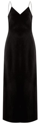 Nili Lotan Adriana Velvet Slip Dress - Black