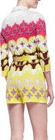 Diane von Furstenberg Celeste Printed Wrap Short Romper