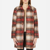 Only Women's Terry Checked Wool Coat