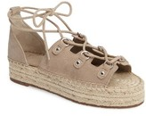 Marc Fisher Women's Vally Lace-Up Platform Espadrille