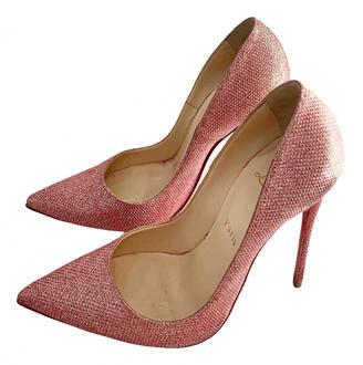 Christian Louboutin So Kate Pink Glitter Heels