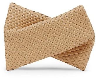 Bottega Veneta Crisscross Leather Clutch