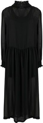 Societe Anonyme Shirred Tunic Maxi Dress