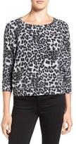 Velvet by Graham & Spencer Leopard Print Sweatshirt