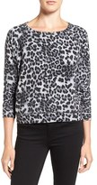 Velvet by Graham & Spencer Women's Leopard Print Sweatshirt