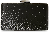 Jessica Simpson Black Noelle Crystal Satin Clutch