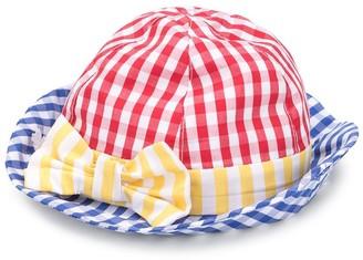 Le Bebé Enfant Checked Bow Hat