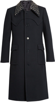 J.W.Anderson Studded-collar wool-blend coat