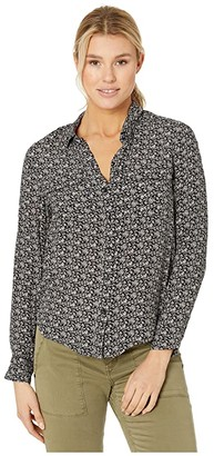 Lucky Brand Georgia Shirt (Black Multi) Women's Clothing