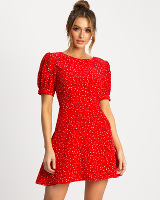 Savel - Women's Red Party Dresses - Court Mini Dress - Size One Size, 6 at The Iconic