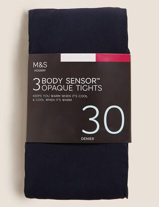Marks and Spencer 3pk 30 Denier Body Sensor Tights