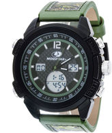 JCPenney Mossy Oak Mens Olive Camouflage Leather Strap Sport Watch