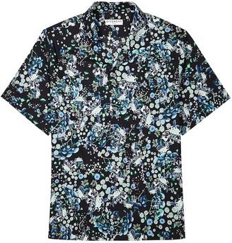 Givenchy Black floral-print cotton shirt