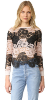 Alice + Olivia Jesse Lace Front Sweater