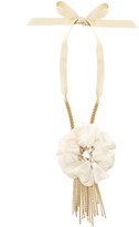Lanvin Crystal-embellished flower choker necklace
