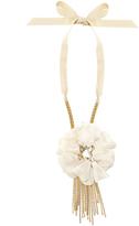 Lanvin Crystal-embellished flower choker necklace
