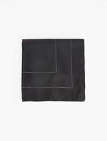 Paul Smith Black & Charcoal Silk Pocket Square